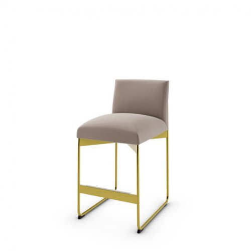 CS1868 GALA Frame P175 met. POLISHED BRASS Seat S0F Venice SAND