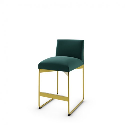CS1868 GALA Frame P175 met. POLISHED BRASS Seat S0H Venice FOREST GREEN