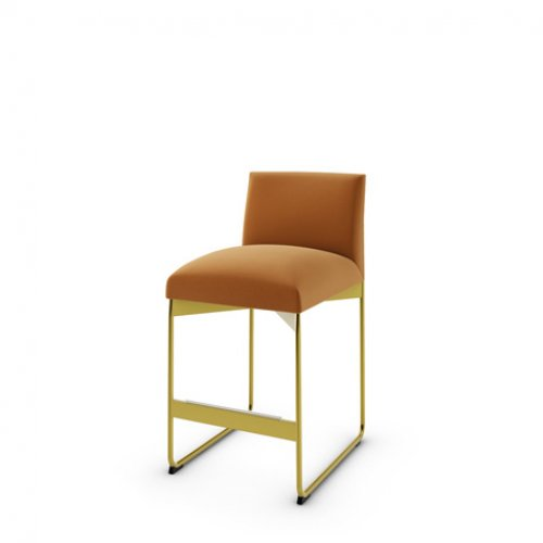 CS1868 GALA Frame P175 met. POLISHED BRASS Seat S0K Venice BRICK RED