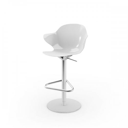CS1878 SAINT TROPEZ Frame P95 met. SATIN FINISHED STEEL Seat P799 polycarbon GLOSSY OPTIC WHITE