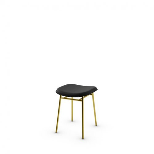 CS2005-LH FIFTIES Frame P175 met. POLISHED BRASS Seat 399 leather BLACK