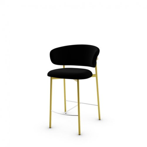 CS2032 OLEANDRO Frame P175 met. POLISHED BRASS Seat S0Y Venice BLACK