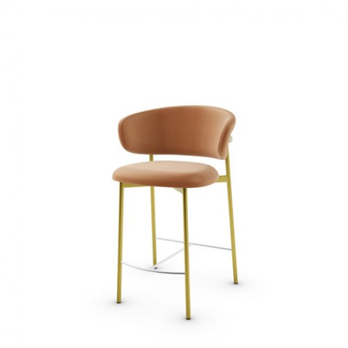 CS2032 OLEANDRO Frame P175 met. POLISHED BRASS Seat SLS Softer COGNAC