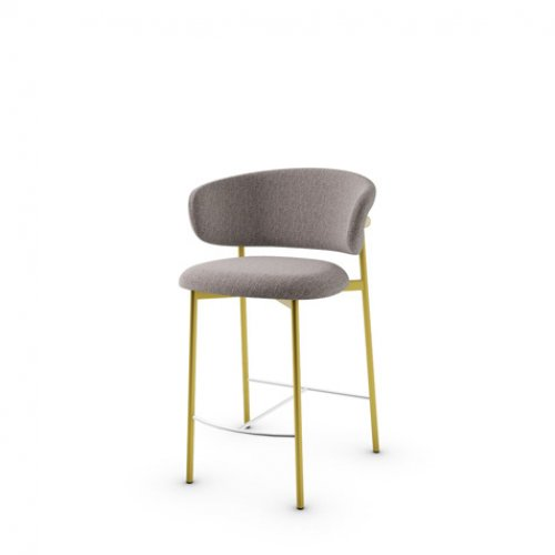 CS2032 OLEANDRO Frame P175 met. POLISHED BRASS Seat SLX Bouclé TAUPE