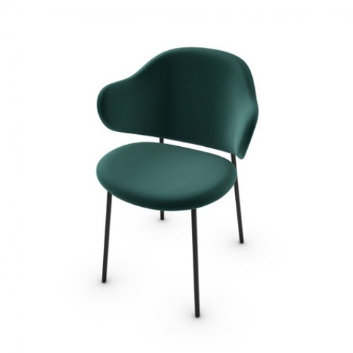 CS2037 HOLLY Frame P1L met. BLACK NICKEL Seat S0H Venice FOREST GREEN