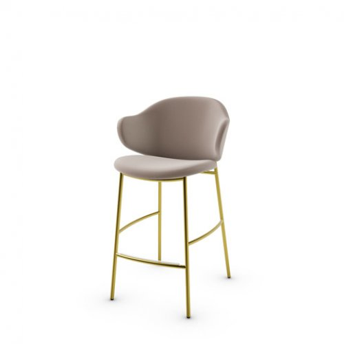 CS2038 HOLLY Frame P175 met. POLISHED BRASS Seat S0F Venice SAND
