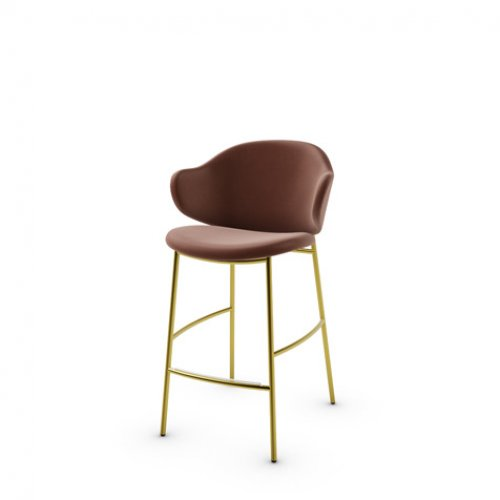 CS2038 HOLLY Frame P175 met. POLISHED BRASS Seat SLT Softer TOBACCO