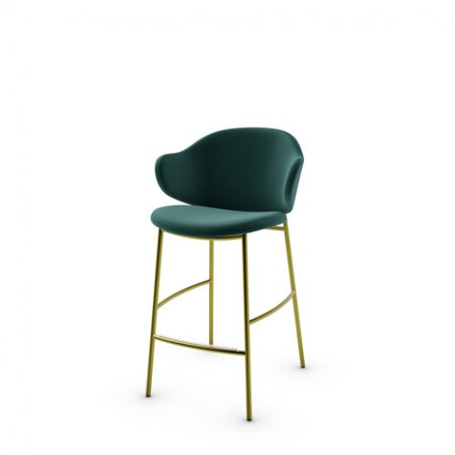 CS2038 HOLLY Frame P33L met. PAINTED BRASS Seat S0H Venice FOREST GREEN