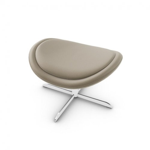 CS3373-C 1320 LAZY Frame P66 met. SATIN FINISHED NICKEL Seat SQ4 Malmo TAUPE