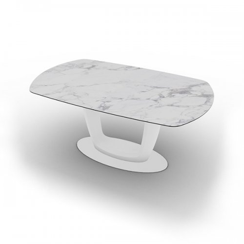 CS4064-E 165 ORBITAL Plate P94 met. MATT OPTIC WHITE Column P94 lacq. MATT OPTIC WHITE Top P2C ceramic (g) WHITE MARBLE