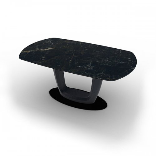 CS4064-E 165 ORBITAL Plate P15 met. MATT BLACK Column P15 lacq. MATT BLACK Top P18C ceramic (g) CALACATTA BLACK MARBLE
