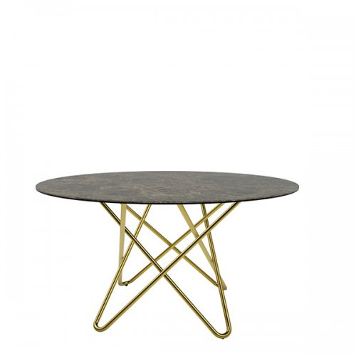 CS4112-FD 140 STELLAR Legs P175 met. POLISHED BRASS Frame P175 met. POLISHED BRASS Top P7C ceramic (g) EMPERADOR MARBLE