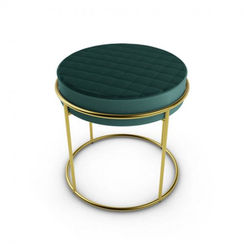 CS5104 ATOLLO Frame P175 met. POLISHED BRASS Seat S0H Venice FOREST GREEN