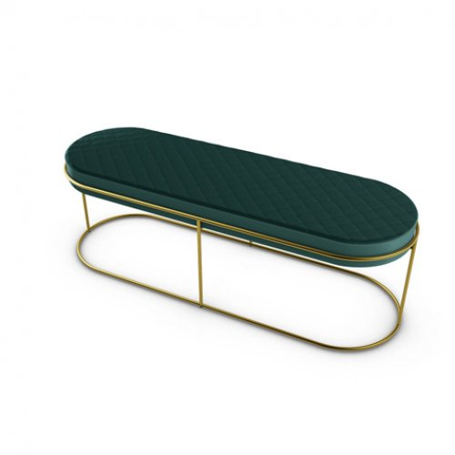CS5105 ATOLLO Frame P175 met. POLISHED BRASS Seat S0H Venice FOREST GREEN