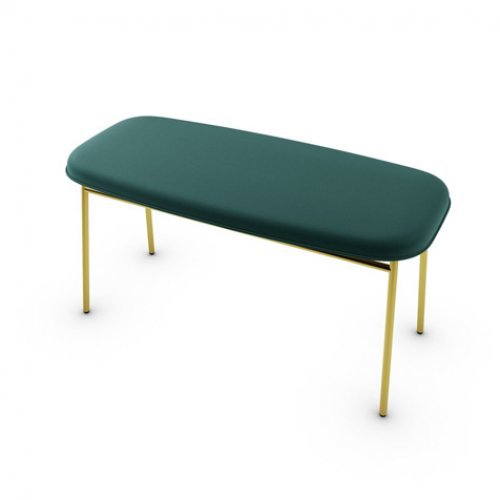 CS5126 FIFTIES Frame P175 met. POLISHED BRASS Seat S0H Venice FOREST GREEN