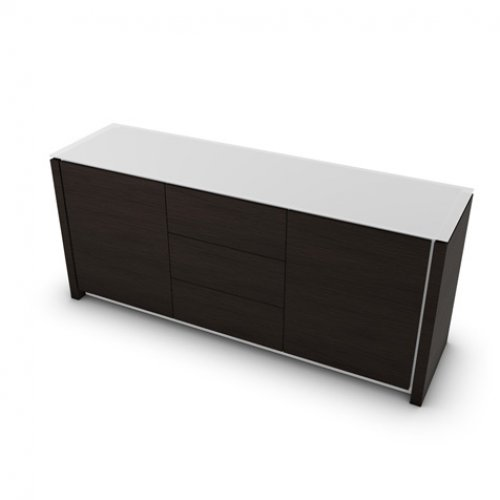 CS6029-10A MAG Internal frame P262 mel. WHITE Doors/drawers P12 ven.fin. SMOKE Top GEW temp.glass FROSTED EXTRACLEAR