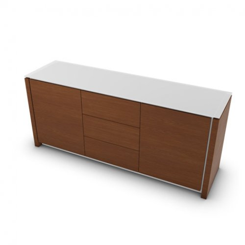CS6029-10A MAG Internal frame P262 mel. WHITE Doors/drawers P201 wlnt ven. WALNUT Top GEW temp.glass FROSTED EXTRACLEAR