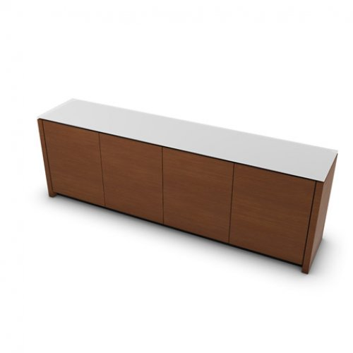 CS6029-7 MAG Internal frame P278 mel. BLACK Door P201 wlnt ven. WALNUT Top GEW temp.glass FROSTED EXTRACLEAR