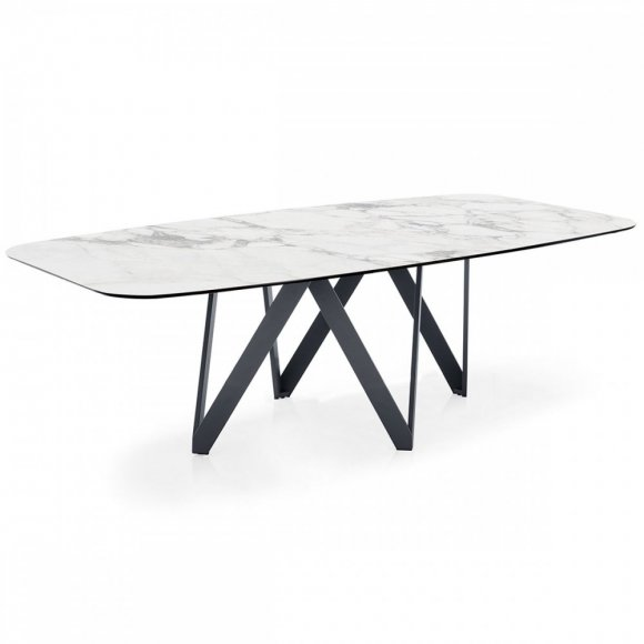 cartesio: Geometric-Pedestal-Base Table