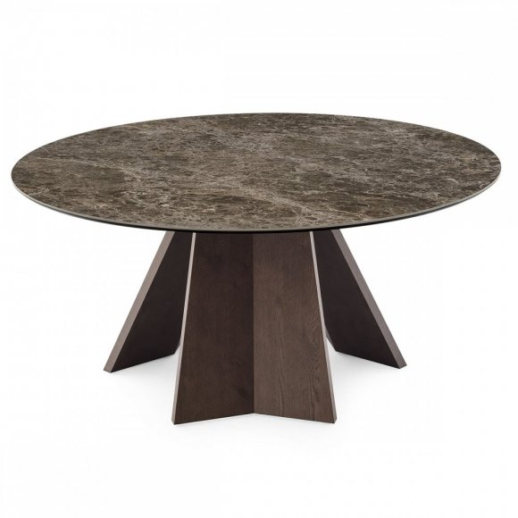 ICARO: Sculptured Wood-Base Table