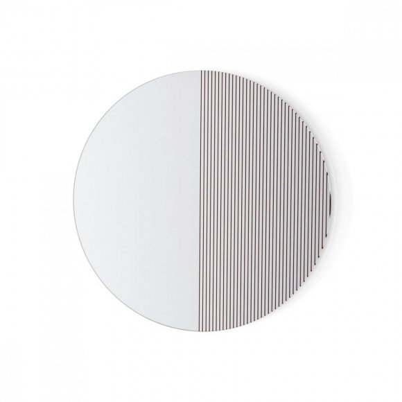 trame: Round Screen-Printed Mirror