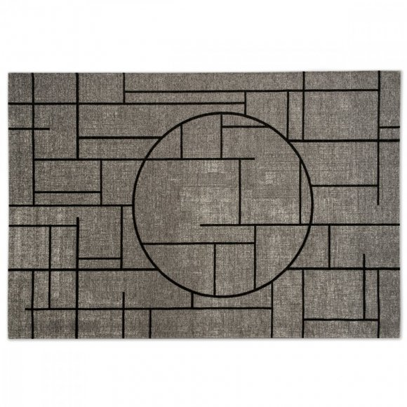 CHINESE: Vintage-Look Carved Jacquard Rug