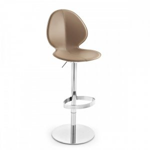 BASIL LEATHER: Ergonomic Leather-Seat Stool