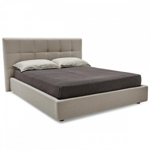 swami: Contemporary Fully-Upholstered Bed